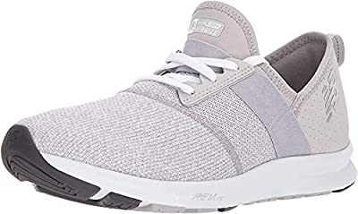 New Balance Women's FuelCore Nergize V1 Sneaker, Overcast/White/Heather, 8.5 M US