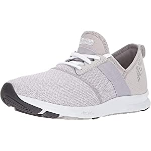 New Balance Women's FuelCore Nergize V1 Sneaker, Overcast/White/Heather, 7.5