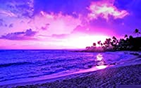 5D ダイヤモンドペインティングキット,ンペインティングキット 大人と初心者向け ダイヤモンドアートクラフト ホームデコ 海辺の風景30 * 40Cmフレームレス