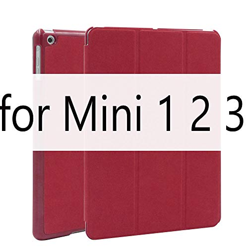 Funda Para iPad Air 2 Air 1 Funda Original de Cuero de PU de ciervo Mate Smart Cover Para iPad Mini 3 2 1 Funda Flip Auto Sleep/Wake upSleep/Wake up-Red Para Mini 1 2 3