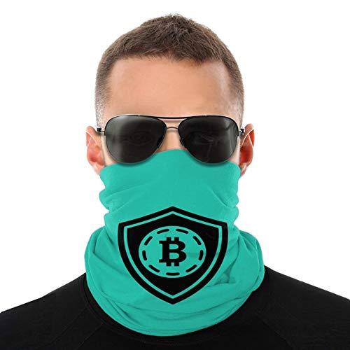 Bitcoin Shield Logo en blanco y negro Unisex Bufandas cálidas Pañuelos para la cabeza Sombreros multifuncionales para toallas faciales elásticas Bufandas lavables 20 * 10 Pulgadas