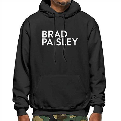 Bolsas de varios tamaños Brad Paisley Hombres Sudaderas Casual con Capucha con Cordón Sudaderas con Bolsillo Navidad S-XXL