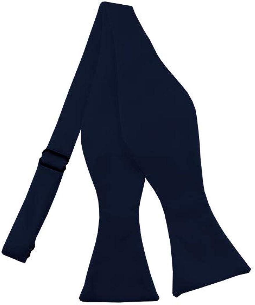 Solid Navy Blue Self-Tie Bow Tie