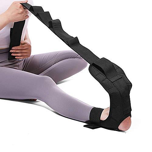 Toumett Yoga Stretching Strap,Yoga Gürtel Stretch Band Sport Multi-Loop Fitness Stretch Band Fußknöchelgelenkkorrekturstützen mit Schnallen,für Physiotherapie Reha Pilates Tanz Gymnastik