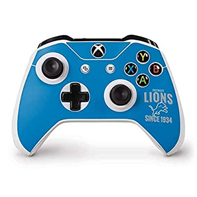 Skinit Decal Gaming Skin for Xbox One S Controller - Officially Licensed NFL Detroit Lions Helmet Design