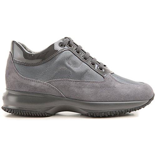 Hogan Sneaker Interactive Scamosciate HXW00N0001035X9998 Grigio Donna 38½