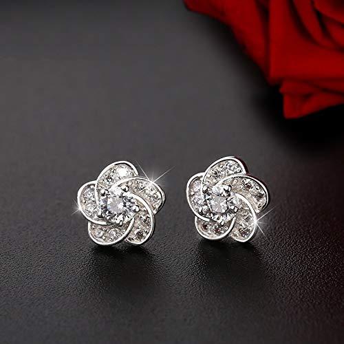 XINTIAN Stud Earrings 925 Sterling Silver Piercing Flower Christmas Stud Earrings for Women Accessories girls earrings