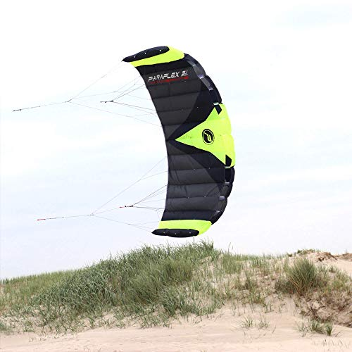 Wolkenstürmer Paraflex Trainer 3.1 Action Kite - 3 Line Trainer Steering Mat para Mountainboarding