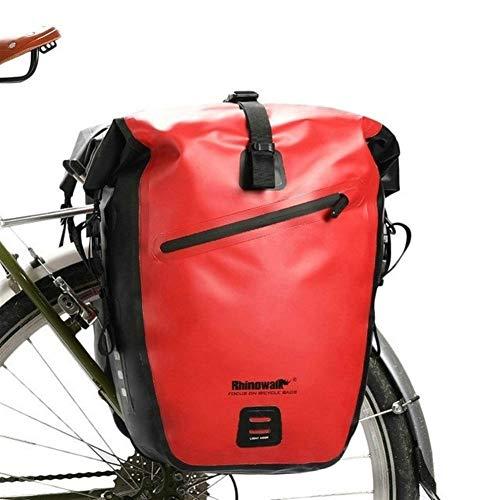 Alforjas Bicicleta Estante 25L-27L impermeable del bolso de la bici del camino de MTB de la bici posterior de la bicicleta de ciclo del bolso del asiento trasero del bolso de hombro bolsa de accesorio