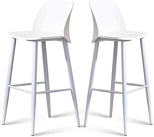 Barkruk 2-delige set barkrukken Scandinavisch barkruk wit design minimalistisch keuken restaurant met rugleuning voor cafés, eetkamerstoel, moderne eetkamerstoel, retro kantoor