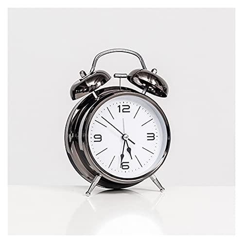 JINGZI Modern Minimalist Personality Alarm Clock Decoration Lazy Dormitory Rental Room Bedside Table Cartoon Creative Clock Decoration (Color : Type A Black)