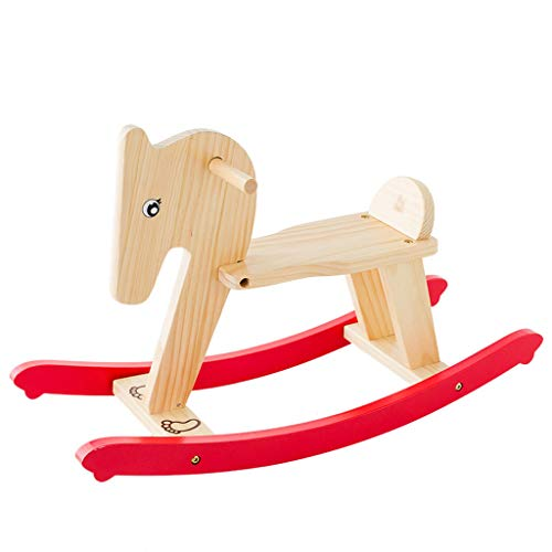 Read About FJH Children's Trojan Shaking Horse Dual-use Baby Toys Shake Rocker Rocking Chair Solid W...