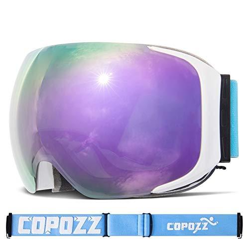 No brand Occhiali da Sci Occhiali da Sci sostituibili Lenti magnetiche UV400 Anti-Fog Neve Ski Mask Sci Uomo Donna Snowboard Goggles GOG-2181 (Colore : 1, Size : 23cm)