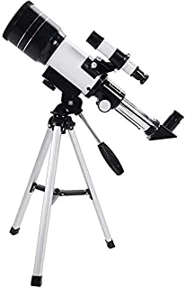 Prakal Telescope for Children & Adults & Beginners, HD Astronomical Refractor Telescope, Portable Travel Telescope With St...