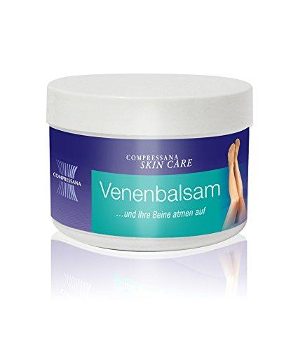 COMPRESSANA Venen-Balsam gegen schwere und müde Beine - schützt, pflegt und erfrischt die Venen - mit Rosskastanien- und Arnikafluidextrakt - 125 ml