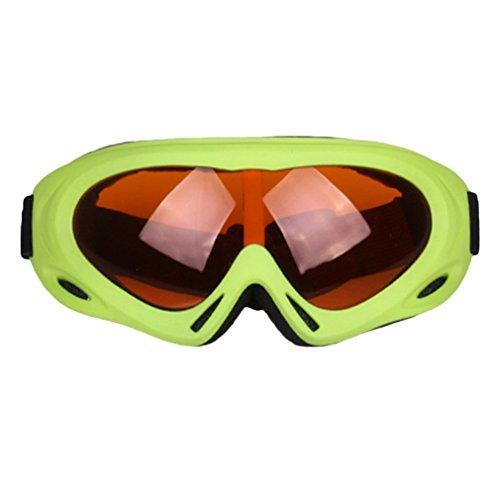 Unisex anti-condens skibril TS-008 winddichte skibril Anti-zand skibril snowboardbrillen voor buitenactiviteiten groen