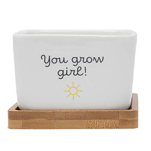 6. You Grow Girl' Plant Pot