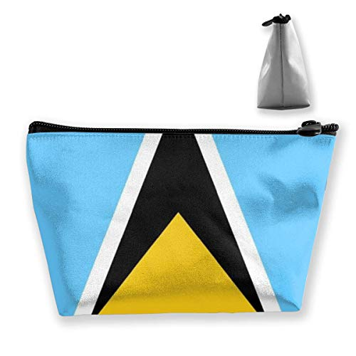 Trapezoid Makeup Pouch Storage Holder Guatemala Flag Womens Travel Case Cosmetic Makeup Pouch