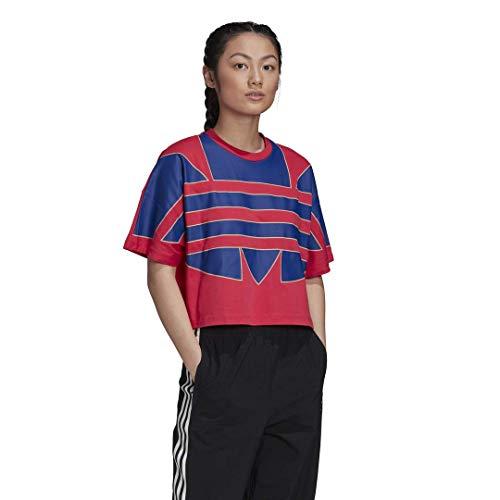 adidas Originals womens Big Trefoil T-Shirt Power Pink Medium