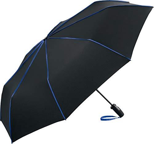 FARE-Seam Oversize-Taschenschirm, extra großer Regenschirm für mehrere Personen, bei Regen, Nässe, Sturm, Nähte, hohe Qualität, windfest, leicht verstaubar (schwarz-euroblau)