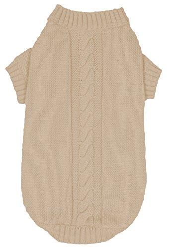 Banbury & Co Pull tricoté pour Chien Ivoire Taille XS