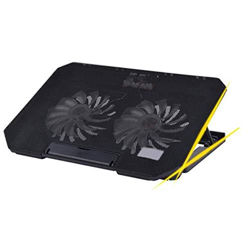 OSALADI Laptop Cooling Pad Notebook-Kühlmatte USB-Kühler 2 Lüfter 14-15.6 Zoll (schwarz)