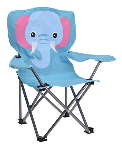 Meinposten. Campingstuhl für Kinder Klappstuhl Gartenstuhl Kind Klappsessel Kinderklappstuhl (Elefant)