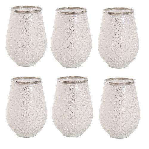 6er Set Windlicht Teelichtglas Ø 10 x 11 cm Windlichthalter Kerzenglas Windlichtset Glasvase...
