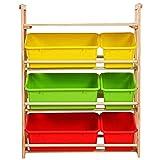 Niños estante organizador de múltiples capas de almacenamiento Estante de...