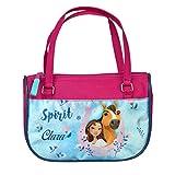 Kindergartentasche mit Namen   Motiv Spirit & Pferde in hellblau und rosa   Handtasche für Mädchen...