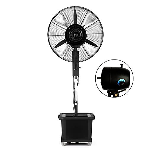 YSJX Ventiladores de Piso de enfriamiento,Ventilador para Nebulización oscilante,Ventilador de pie de Altura Ajustable,(Negro) 3 configuraciones de Velocidad,con Tanque de Agua,3 aspas (Size : 350W)