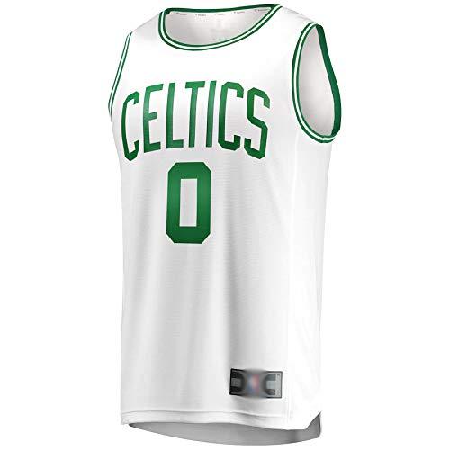 CJQH Camiseta de baloncesto de los hombres Jayson Boston #0 Celtics Tatum Fast Break réplica Away Jersey blanco transpirable sudadera para los hombres-edición de la asociación