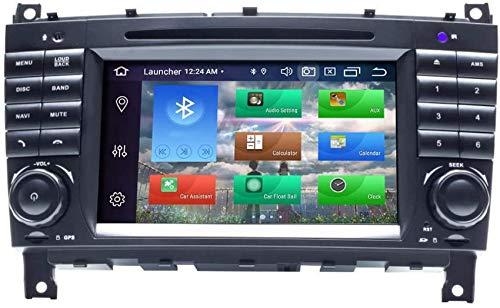 Compatible con Mercedes-Benz CLK Class W209 CLK200 CLK220 CLK320 CLC W203 C180 C200 C220 C230 C250 C270 C280 C300 C320 CLC W203 Android 10 Octa Core 4GB RAM 128GB ROM 7 'Radio de coche Navegador GPS