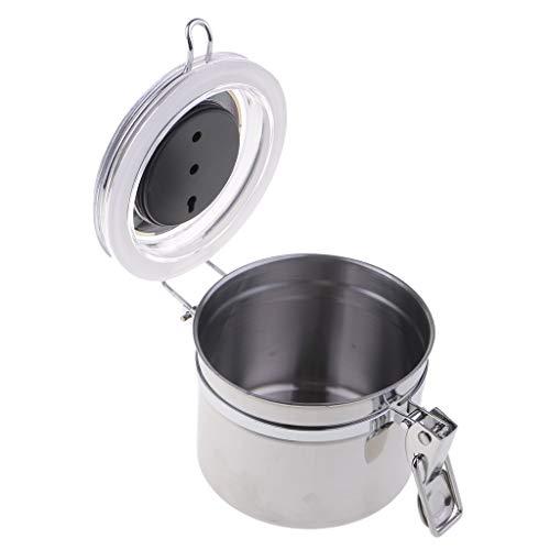 1 Stück Tabakbefeuchter Luftfeuchtigkeit Airproof Pot Tank 10 x 10 cm/Silber