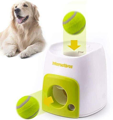 NXowzf Ball Launcher for Dogs Tennis Ball Launcher Automatic Dog Ball Launcher Automatic Fetch Machine for Dogs Ball Thrower for Dogs