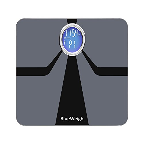 Affordable BlueWeigh Oreo Smart Body Composition Analyzer Scale. Measures: Body Weight/Fat/Muscle/Water Content/Bone Mass, Visceral Fat, BMI and BMR