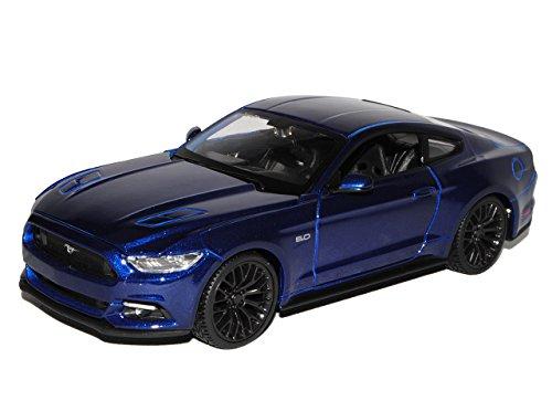 Maisto Ford Mustang VI Coupe Blau Ab 2014 1/24 Modell Auto