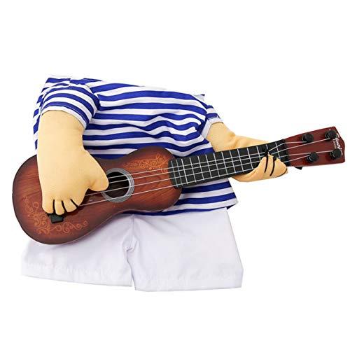 camellia Pet Gitarre Kostüm Hundekostüme Gitarrist Spieler Halloween Weihnachten Cosplay Partei Lustige Katze Kleidung