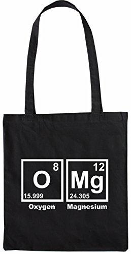Mister Merchandise Tasche OMG Periodentafel Chemistry Mathe Nerd Math Stofftasche, Farbe: Schwarz