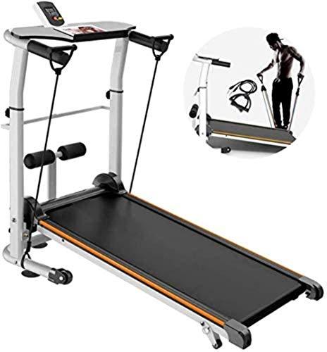 Haoshuai mechanische loopband voor handboek mini vouwmachine cardio fitness exercise uitrusting (kleur: oranje, afmetingen: 120 x 60 x 20 cm), thuisapparaten voor fitness