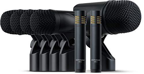 drum overhead mics PreSonus DM-7: Complete Drum Microphone Set for Recording and Live Sound, XLR MIC