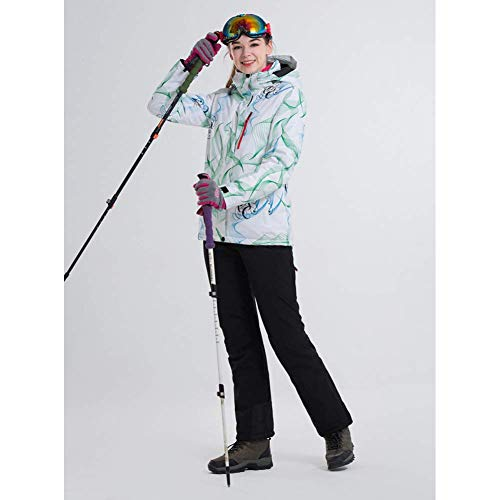 BCOGG Skianzug Frauen Snowboard Jacken + Hosen Warmer Schnee Mantel Atmungsaktiv 5 Farbe Optional Bunte Ski Sets Weiblich L A