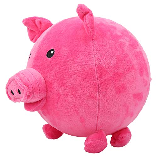 Alomejor Muñeco de Peluche de Cerdo de Dibujos Animados, Juguete de Peluche para niños, Globos inflables, Juguetes de Pelota para Saltar