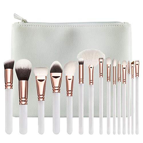 QWK Pinceau de Maquillage Set Foundation Foundation Poudre Blush Fard à paupières Pinceau de mélange, avec Sac