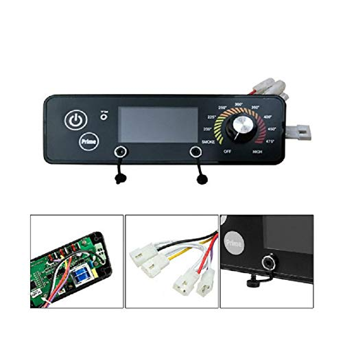 LCD Display Thermostat Controller Board,120V Pellet Grills Replacement Digital Thermostat Board, Adjustable Temperature