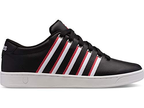 K-Swiss Men's Court Pro II Sneaker, Black/White/Red/Tape, 7