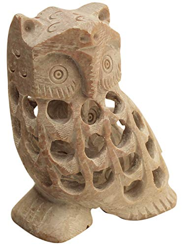 Intricately Carved Soapstone Collectible