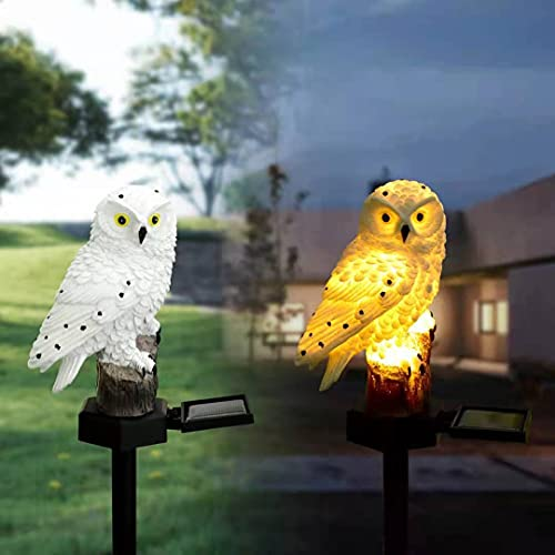 Owl Solar Powered Outdoor Led Garden Light Bird Stake Garden Decoration Weather Resistant Sculpture for Home Yard Lawn…