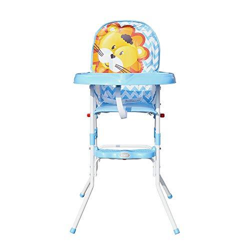 Trona portátil 3 en 1 Booster Seat, silla de alimentación para bebé, con bandeja, altura ajustable, trona fácil de montar, para niños y niñas (azul)