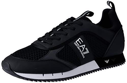 EMPORIO ARMANI EA7 Laces U Zapatillas Moda Hombres Negro - 41 1/3...